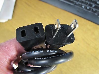"Replacement Power Cord STUDER, REVOX, TANDBERG w/2 Prong ""AC POWER"" Socket 8 ft"