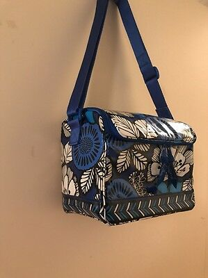 VERA BRADLEY STAY COOLER INSULATED LUNCH TOTE Blue Bayou RETIRED