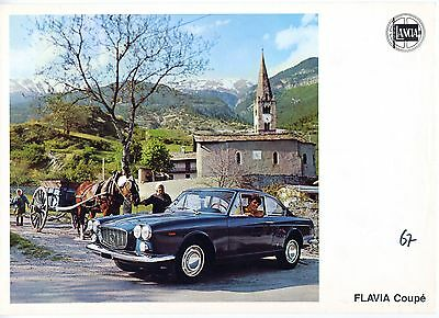 Lancia Flavia Coupe brochure Prospekt, 1967 (German text)