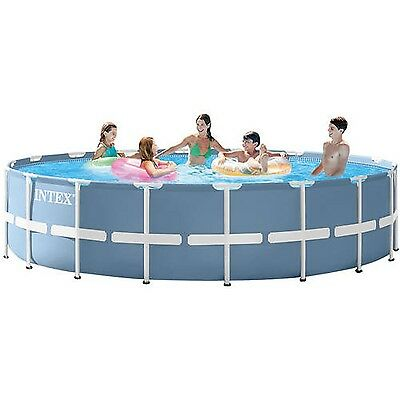 Intex 18; x 48; Prism Frame Above Ground Swimming Pool with Filter Pump