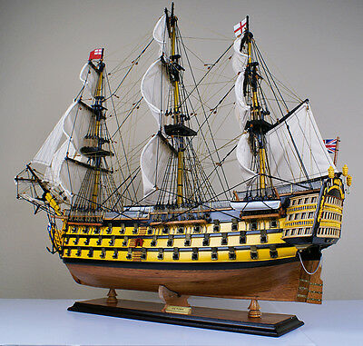"Victory 34"" model wood ship British navy wooden tall ship sailing boat"