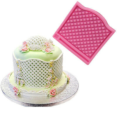 Window Grids Silicone Cake Stencil Cookie Mold Surround Edge Decorating Tool