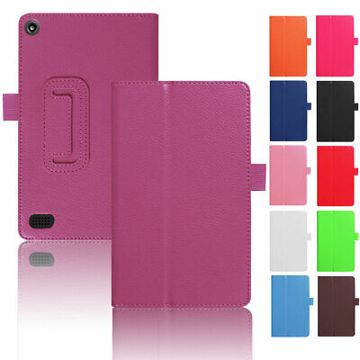 For Amazon Kindle Fire 7 2017 7th Gen Tablet Case Flip Thin Leather Stand Cover