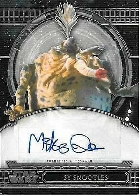 2017 Topps Star Wars 40th Anniversary #MQ Mike Quinn as Sy Snootles Autograph
