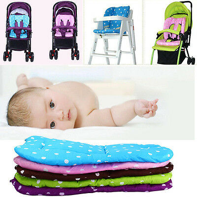 Kid Infant Baby Trolley Stroller Pram Pushchair Seat Dot Thick Pad Liner Cushion