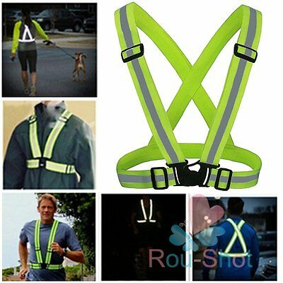 High Reflective Vest Visibility Safety Harness Belt Jacket Running Walking【AU】