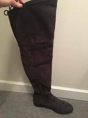 1cb756f3c47 DOLCE VITA SHOES Neely Over the Knee Boot Dark Grey -  100.00