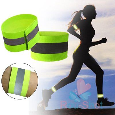 High Visibility Arm Bands Arm Strap Reflective Fluorescent Safety Arm Strap【AU】