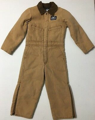 Vtg Polar King Insulated Coveralls made In USA Youth / Child 25w 16inseam