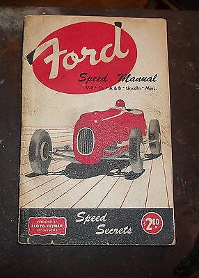 VTG 1952 Ford Speed Manual Fred Fisher Hotrod Lincoln Mercury v8 Soft Cover Book
