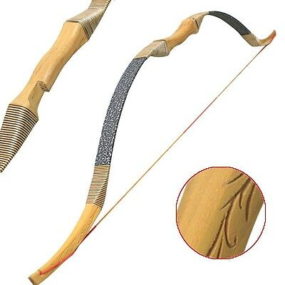 """50"""" Handmade Traditional Archery Hunting 35lbs  Recurve Bow Longbow Right Hand"""
