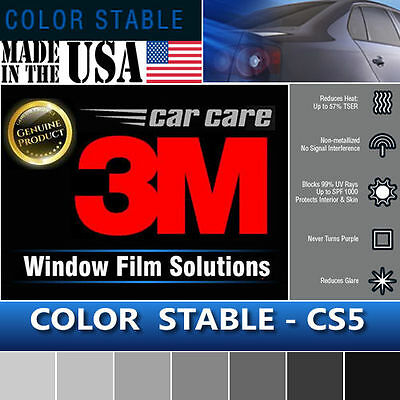 "3M Color Stable 5% VLT Automotive Car Truck Window Tint Film Roll 60""x 24"" CS5"