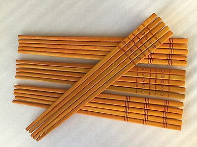 10 Pairs WOODEN CHOPSTICKS Wooden Wood Asian Wedding Dinner Gift High Quality