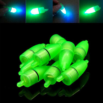 10 Pcs LED Light Night Float  Ring Fishing Rod Bite  Fishing Gear