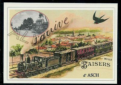 ASCH  - AS  ..train souvenir creation moderne serie numerotee