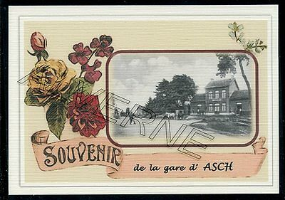 ASCH  - AS  -  gare souvenir creation moderne serie numerotee