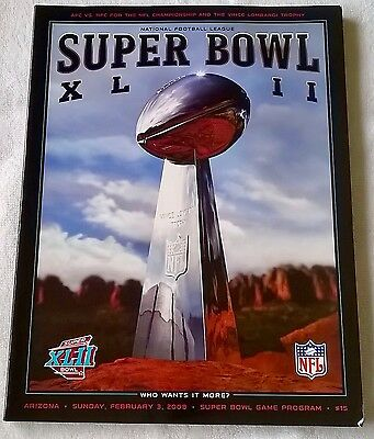 Super Bowl XLII NFL New York Giants vs New England Patriots Official Programme