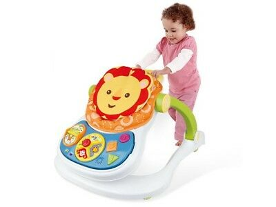 Baby 3 Adjustable Height Walker First Steps Activity with Musical Toy