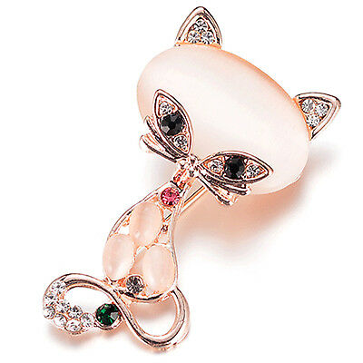 GOOD Crystal Rhinestone Cat Flower Butterfly Brooches Wedding Brooch Pin Party