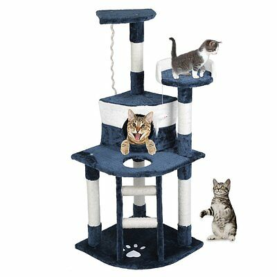 Cat Tree Scratching Post Scratcher Pole Gym House Furniture Multi Level 120cm AB