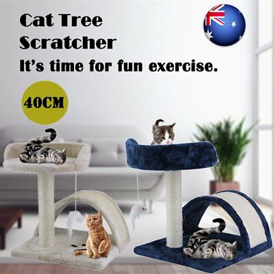 Cat Scratching Post Tree Gym House Furniture Scratcher Pole Toy Small 40cm OZ