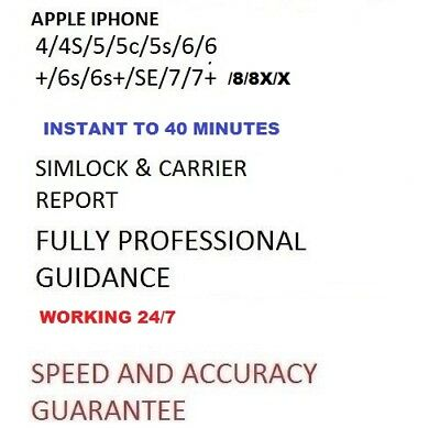 GSX MINI Report Network Check Carrier status  For Apple iPhone & iPad super fast