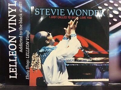 """Stevie Wonder I Just Called To Say I Love You 12"""" Single  TMGT1349 Soul 80's"""
