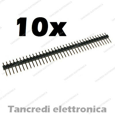 10pz Connettori strip line 40 poli pin maschio L=6mm stripline separabili header