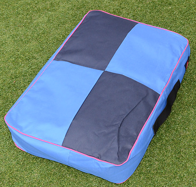 """New Dog Bed """"chewing resistant"""" Soft cushioned Plush Blue Canvas Dog Floor Mat"""