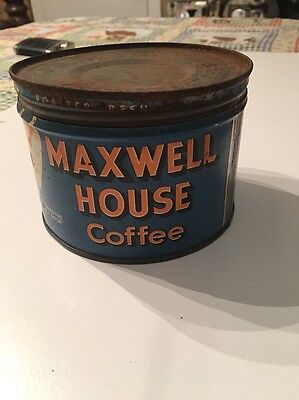 Vintage Maxwell House Coffee Can - Had A Key To Open