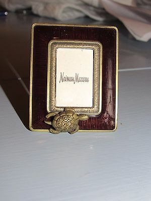 Jay Strongwater Picture Frame with Turtle with Swarovski Crystals