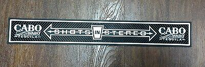 CABO WABO tequila rubber bar mat runner rail NEW spill collectable man cave shot