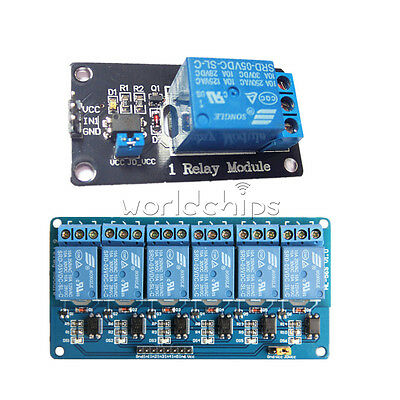 5V 1/6 Channel Relay Board Module Optocoupler LED for Arduino PiC ARM AVRC New