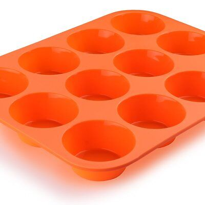12 Cup Silicone  Muffin Tray Bake-Ware Cake Baking Tray