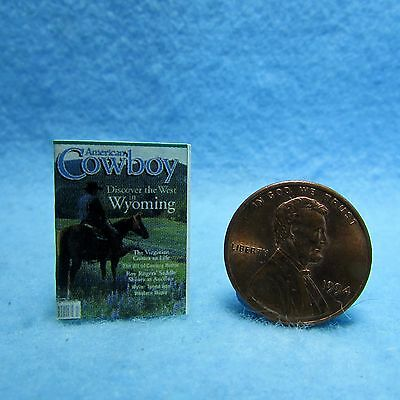 Dollhouse Miniature Replica of AMERICAN COWBOY Magazine ~ Printed to Detail