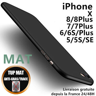 Anti choc Coque Housse Silicone Mat Case Cover iPhone 6 7 8 Plus 5 SE X XR XSMAX