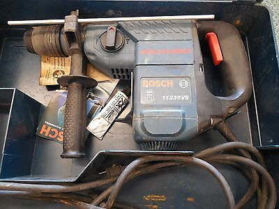 Bosch Rotary Hammer 11236VS 7.5 Amp 1-1/8 Inch SDS-Plus Very Lightly Used w case