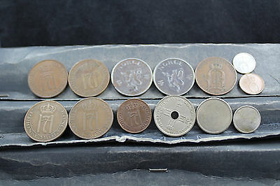 Norway 13 assorted coins   lot G 833