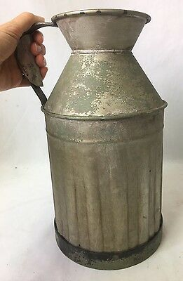 Metal Milk Jug Can Pitcher Vintage Antique Reproduction Country Farmhouse 12""