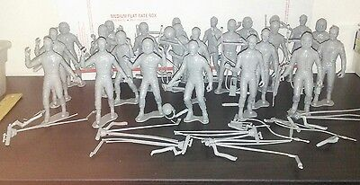 Lot of 23 Plastic Spacemen 5 1/2 inches tall NASA ALIENS FLAT EARTH Figures Toys