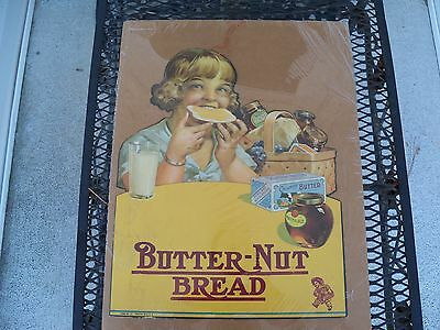Butter-Nut Bread Circa 1920's Cardboard Hanging General Store Display Sign