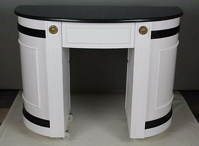 CLEARANCE Nail Table Manicure Pedicure Nail Salon Furniture Black MARBLE TOP