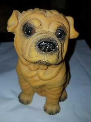 Sharpei Figurine Brautiful Golden Color! Looking For His Forever Home!