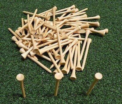 "100 3 1/4"" Natural Wood Golf Tees-PERFECT FEEDBACK RATING!! Great Price!Compare"