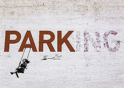 Postkarte/ Postcard:  Street Art - Banksy - Parking