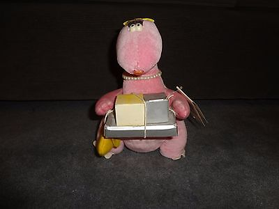 "12"" VTG RARE NWT Shopasaurus Plush Talking Tops Dinsosaur Stuffed Animal 1984"