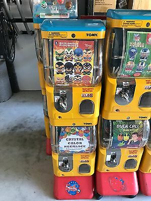 tomy vending machines, single machines and double machines