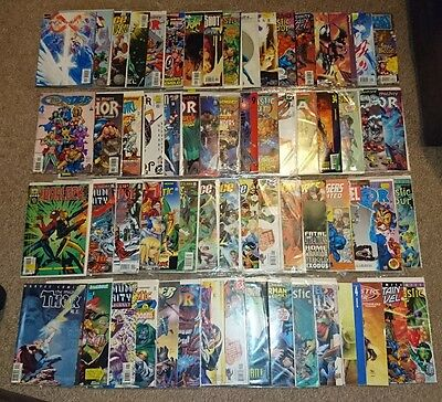 Large bundle of 65 DC and Marvel Comics