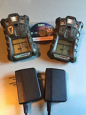 (2) X MSA altair 4X multi gas detector Monitor Meter O2,H2S,CO,LEL Calibrated
