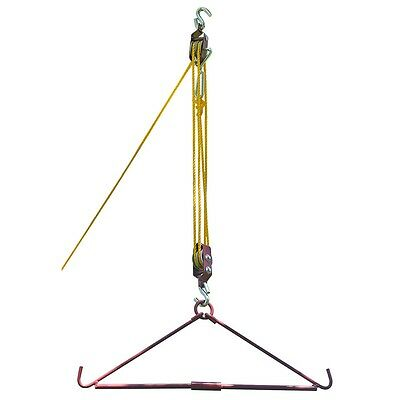 440 LBS Gambrel and Pulley Game or Machinery Equipment Hoist